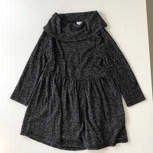 Old Navy Black & White Heathered Sweater Dress 2T